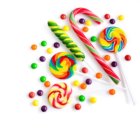 Photo for Colorful candies isolated over white - Royalty Free Image