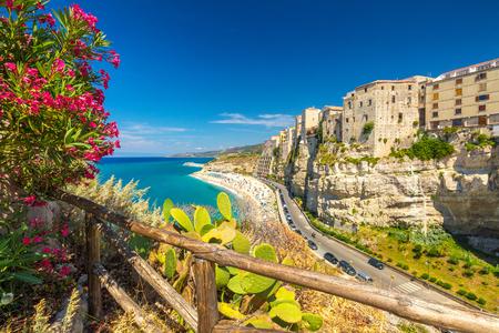 Foto de Tropea town and beach - Calabria, Italy, Europe. - Imagen libre de derechos