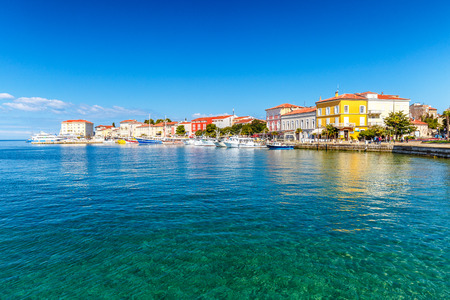Foto de Porec town and harbor on Adriatic sea in Croatia, Europe. - Imagen libre de derechos