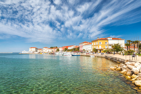 Foto de Porec town and harbor on Adriatic sea in Croatia, Europe. - Imagen libre de derechos