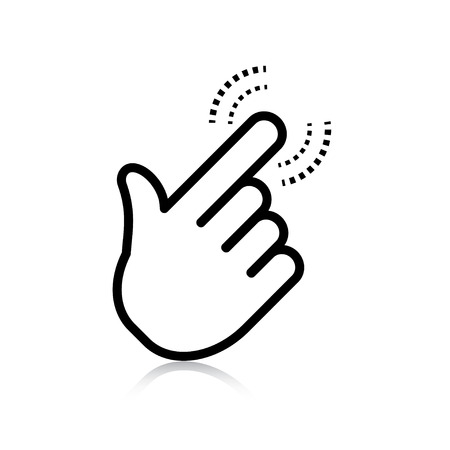 Illustration for click. hand icon pointer. vector eps8 - Royalty Free Image