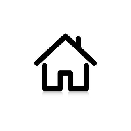 Ilustración de house with a pipe. icon.  - Imagen libre de derechos