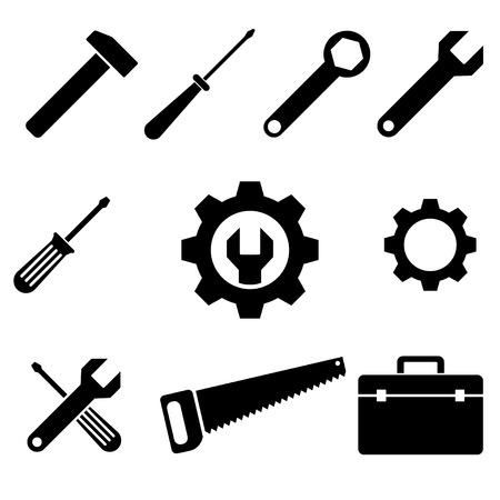Illustration pour icons of tools. vector set. eps8 - image libre de droit
