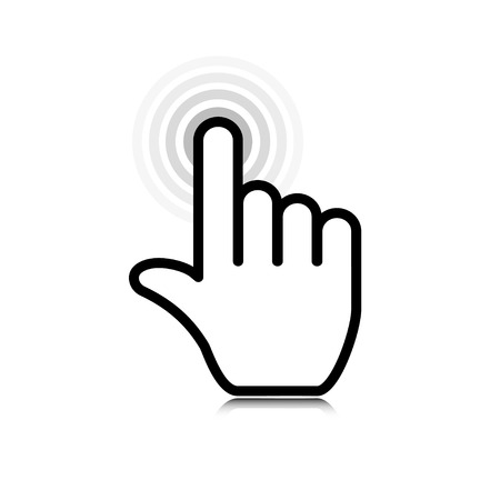 Illustration pour click. hand icon pointer. vector eps10 - image libre de droit