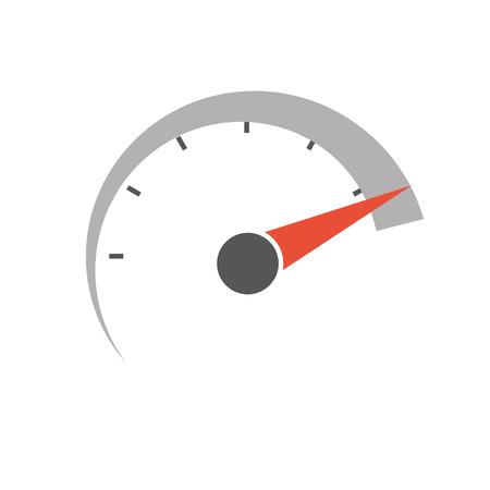 Ilustración de speedometer icon. vector icon. - Imagen libre de derechos