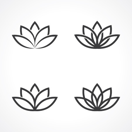 Illustration for abstract lotus symbols.  - Royalty Free Image