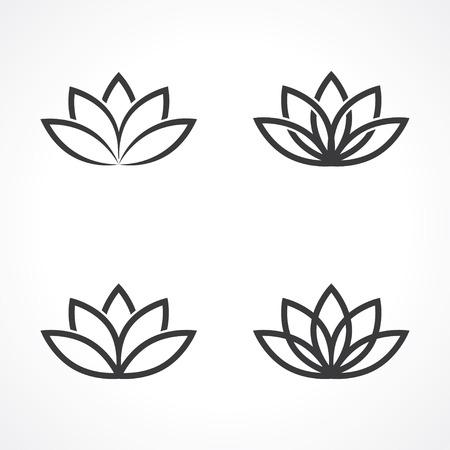 Ilustración de abstract lotus symbols.  - Imagen libre de derechos