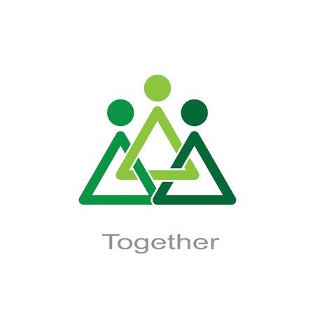 Illustration pour together symbol. - image libre de droit