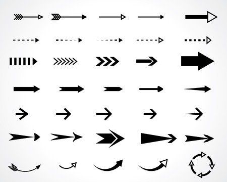 Illustration pour arrows. vector design elements set. eps8 - image libre de droit