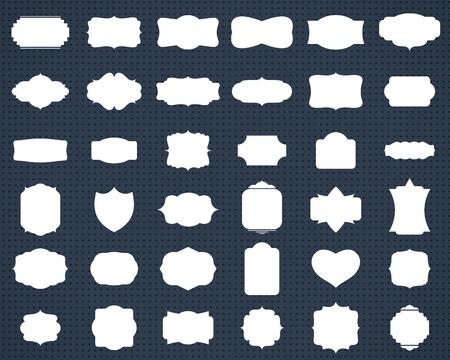 Illustration pour set of white blank retro frames and labels. vector eps10 - image libre de droit