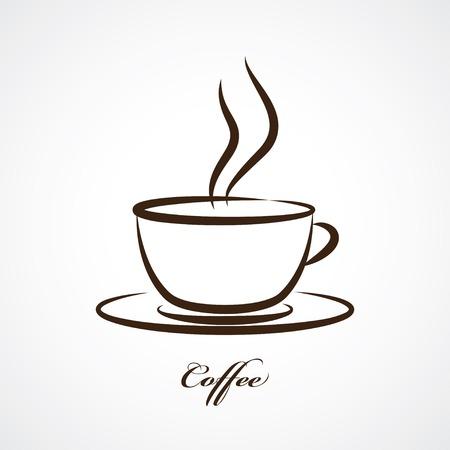 Ilustración de coffee cup icon - Imagen libre de derechos
