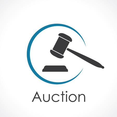 Illustration pour auction. icon - image libre de droit