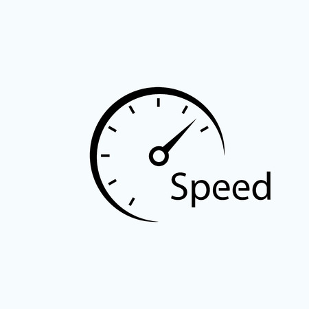 Illustration pour speedometer icon. symbol of speed. template logo design - image libre de droit