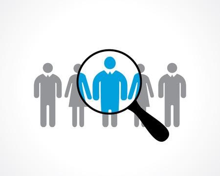 Illustration pour search for employees. recruitment. vector icon - image libre de droit