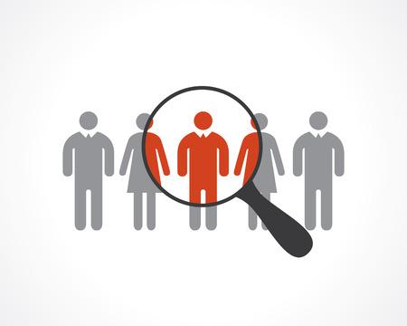 Illustration pour staff recruitment - image libre de droit