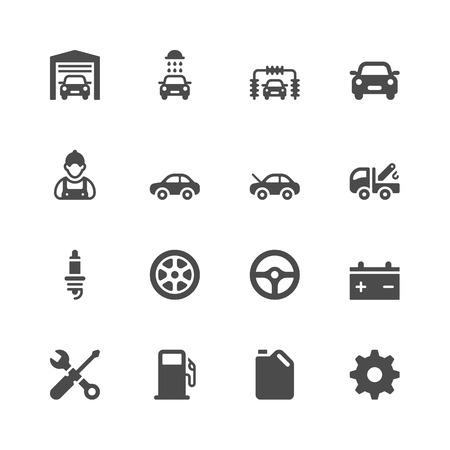 Illustration pour Car service icons - image libre de droit