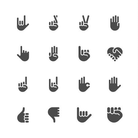 Illustration pour Hand icons - image libre de droit