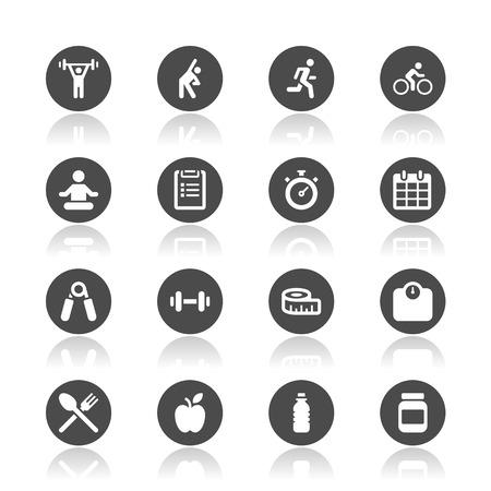 Ilustración de Fitness icons - Imagen libre de derechos