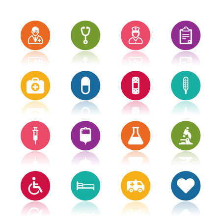 Illustration pour Medical icons - image libre de droit