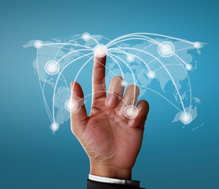 Businessman social network structure