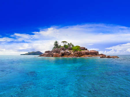 Photo for Tropical island at Seychelles - nature background - Royalty Free Image