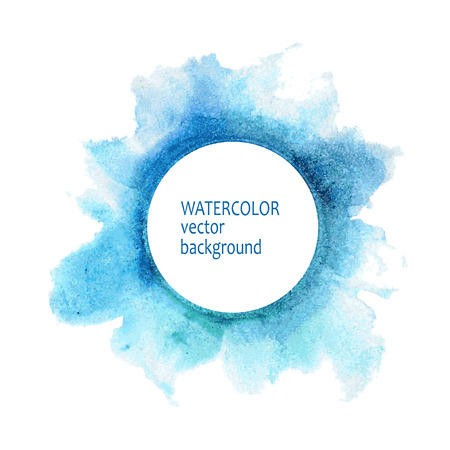 Illustrazione per Abstract watercolor circle hand paint on white background - Immagini Royalty Free