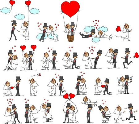 Foto de cartoon wedding pictures  - Imagen libre de derechos