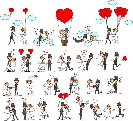 Foto de cartoon wedding pictures  - Imagen libre de derechos