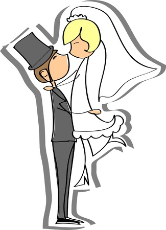Wedding pictures, bride and groom in love