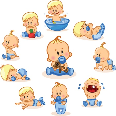 Photo for Vector illustration of baby boys  - Royalty Free Image