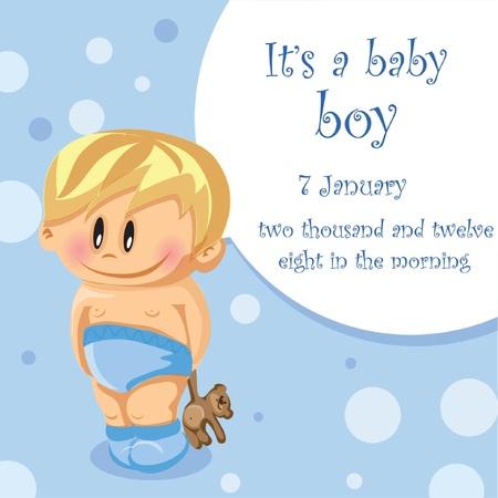 Ilustración de Illustration of baby boy  - Imagen libre de derechos