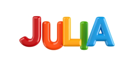 Photo for colorfull 3d Kid Name balloon font Louis on white background - Royalty Free Image