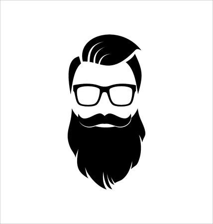 Illustration for Hipster Hairstyle - Royalty Free Image