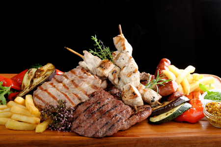 Photo for Mixed grilled meat platter - Royalty Free Image