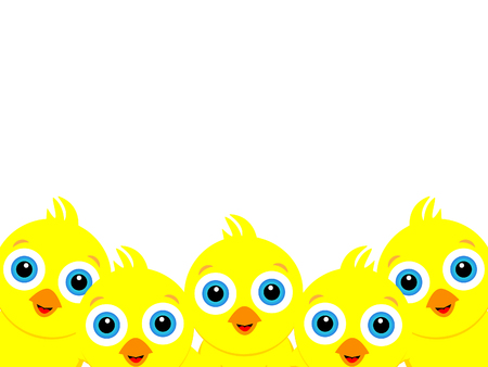 Ilustración de Wonderful background design created from many little yellow chicks. - Imagen libre de derechos