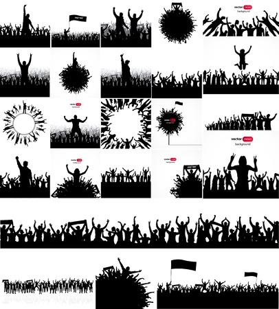 Photo pour Posters for sports concerts and championships. - image libre de droit