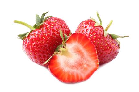Foto de Strawberries isolated on white - Imagen libre de derechos