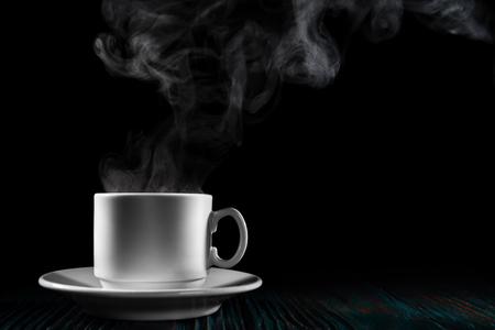 Freshly brewed coffee over  black background