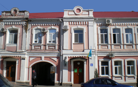 Foto de The building of the newspaper Melitopol  Statements in Melitopol city,Ukraine - Imagen libre de derechos