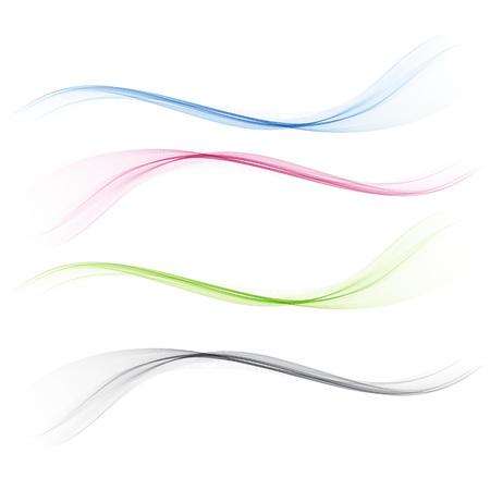 Ilustración de Abstract bright border line divider. Vector illustration - Imagen libre de derechos