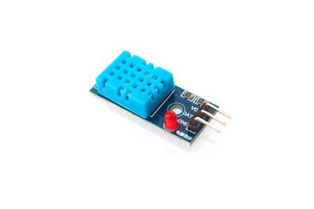 Photo pour Temperature and humidity sensor for DIY projects isolated on white - image libre de droit