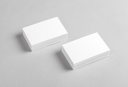 Photo pour Photo of business cards. Mock-up for branding identity. For graphic designers presentations and portfolios - image libre de droit