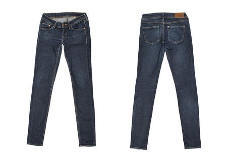 Foto de jeans Isolated on white - Imagen libre de derechos