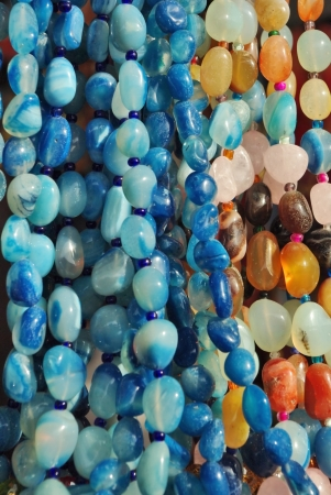 Texture from the different semi precious stone beads