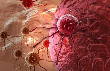 Photo pour cancer cell made in 3d software - image libre de droit