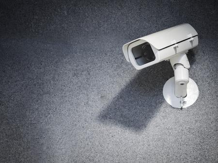 Foto de Security camera equipment on wall Safety system area control - Imagen libre de derechos