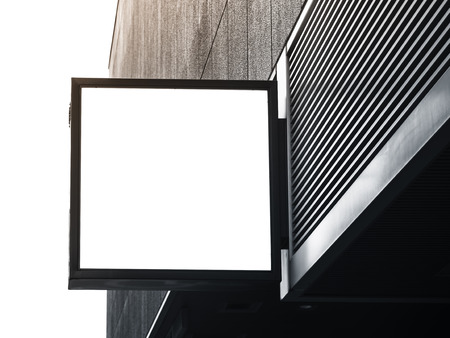 Photo for Signboard shop Mock up square shape display - Royalty Free Image