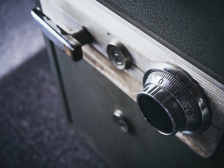 Foto de Safe lock code on safety box bank Security system - Imagen libre de derechos