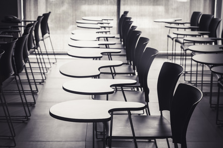 Photo for Lecture room with empty seats in row - Royalty Free Image