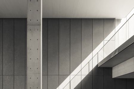 Photo pour Architecture details Cement wall Shade and shadow - image libre de droit